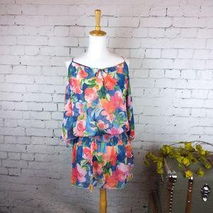 NWT Vera Bradley cold-shoulder floral coverup